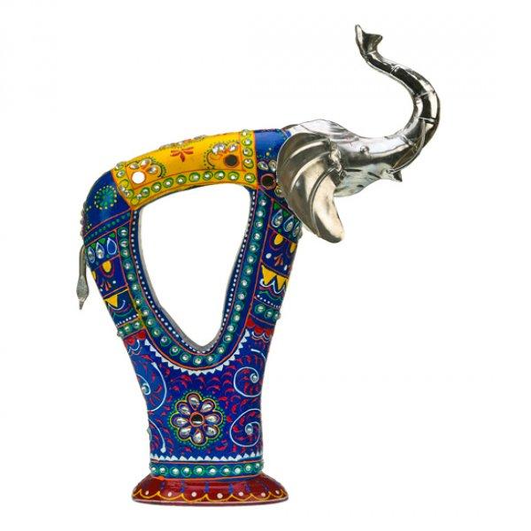 Blue colored Metal Elephant