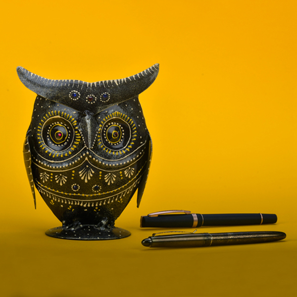 Pen Stand - Owl face