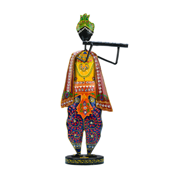 Standing Musician with Pagdi holding Flute