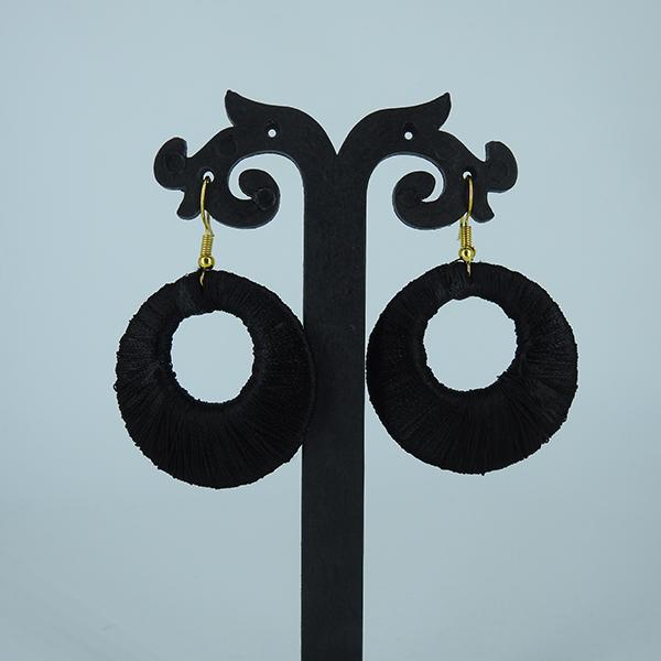 Set of 3 Silk Thread Hoop Earring - Big Size
