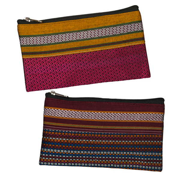 Set of 2 Hand Purses - Dark Pink and Multicolored