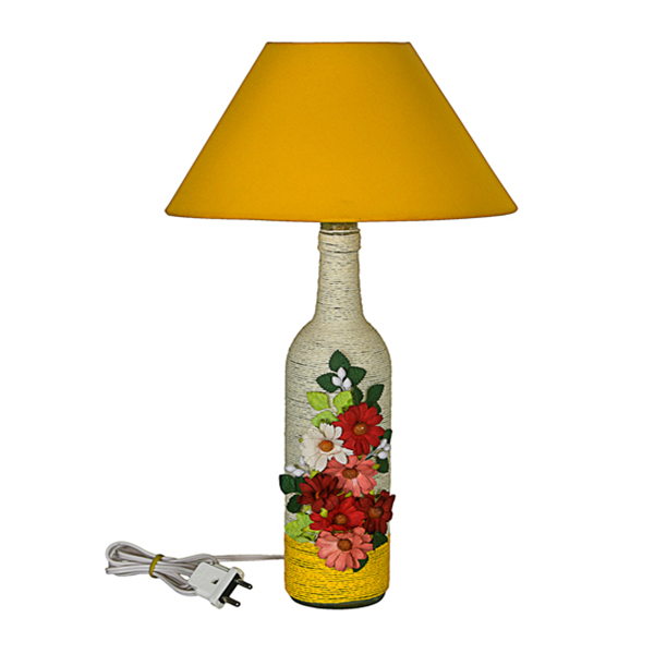Electric Bottle Lamp with shade