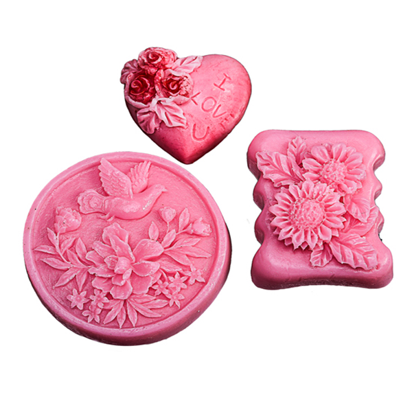 Set of 3, Almond Soap - multiple shapes