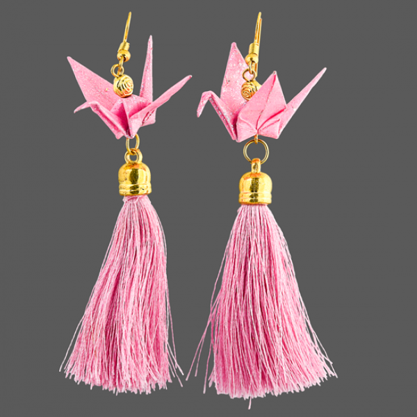 Origami Cranes with Tassels
