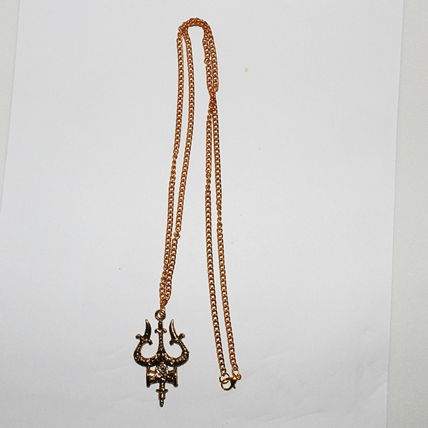 Artificial Golden chain with Trishul pendant