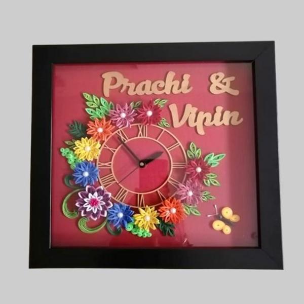 Paper Quilling Handmade Wall clock