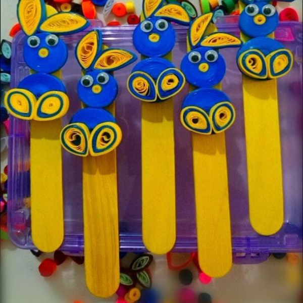 Set of 5 - Paper Quilling Bookmarks