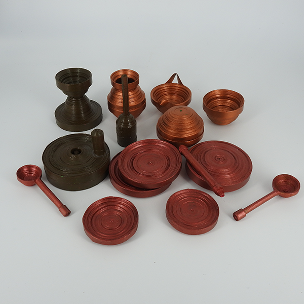 Bhatukli Set, made of Paper Quilling artwork