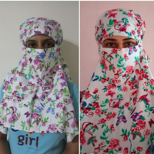Set of 2, Overhead Face Mask.