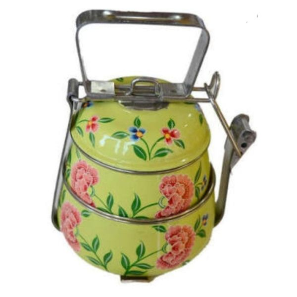 Rajasthani Hand Painted 2 layer Stainless Steel Tiffin Box