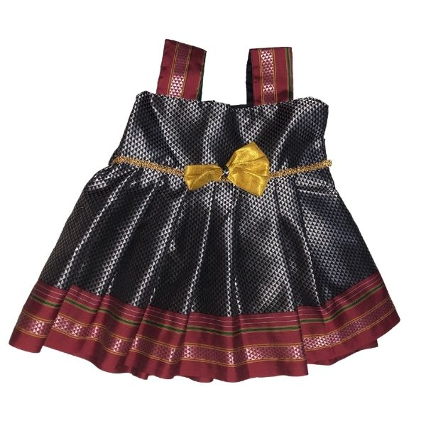 Traditional Irkal Frocks for Girls in SilverGrey Color_Pattern008