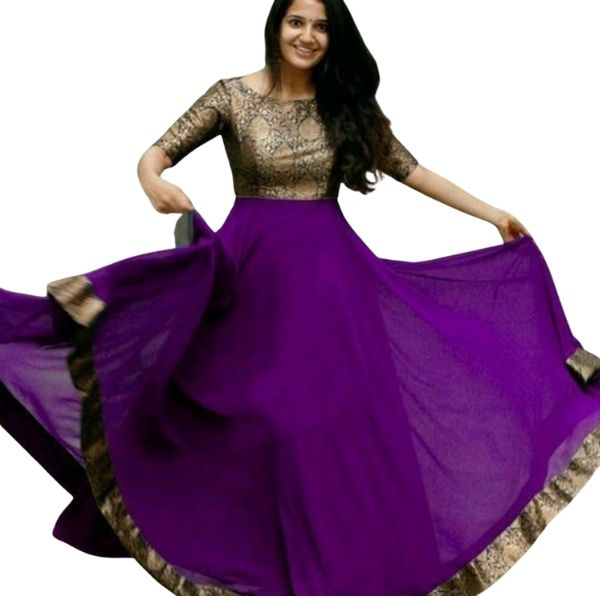 Georgette Party wear Gown_2XL_Available in 7 Color